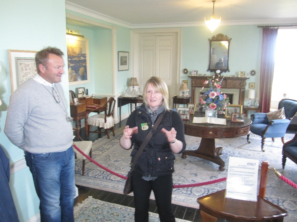 Lorna giving a tour of Skaill House