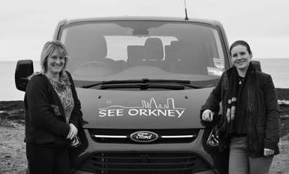 Lorna and Carrie, your See Orkney tour guides